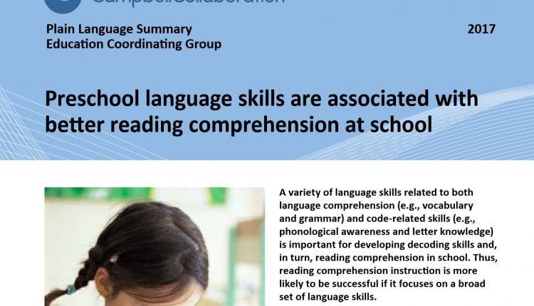 Ny kunnskapsoversikt: Språk i barnehagen- fundamentet for leseforståelse